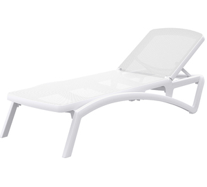 Injected hotel pool furniture plastic swimming pool chair outdoor sun lounger sea beach chair