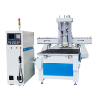 Jinan 6KW air-cooling spindle,servo motor driving,wood cnc router 1325