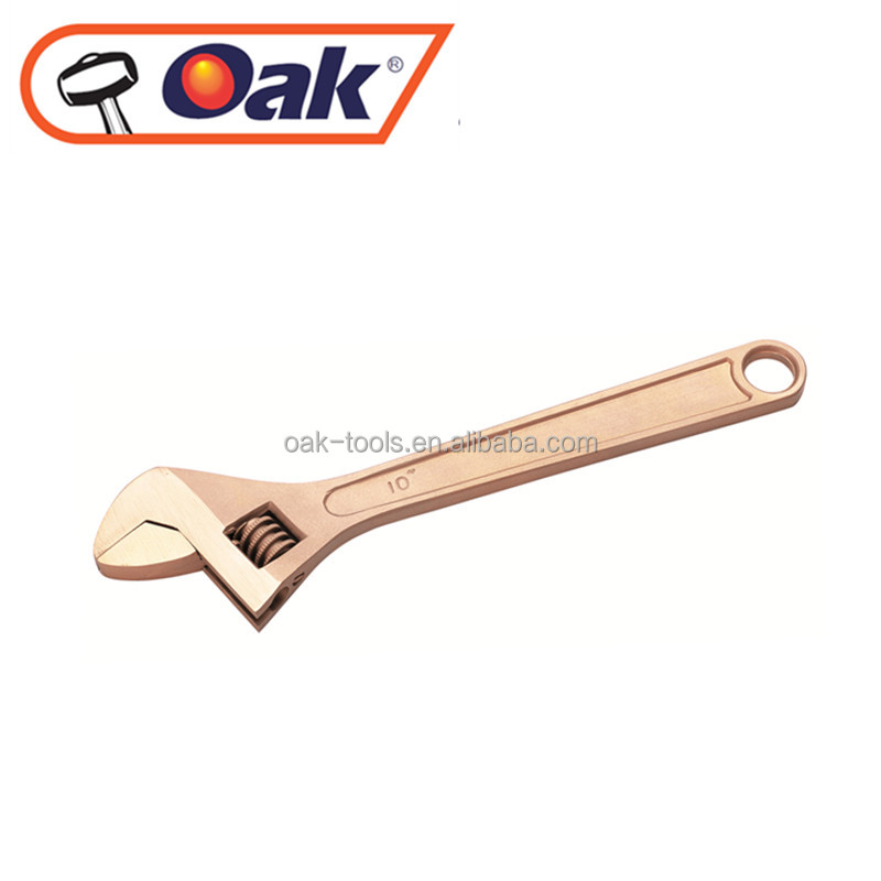 high quality forging hand tools types of spanner names non-sparking adjustable aluminium bronze wrench
