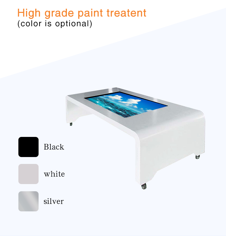 Fabriek Prijs Dubbele Side Screen tafel top touch screen kiosk