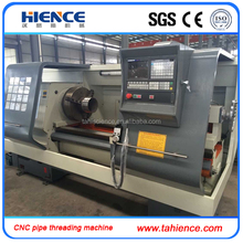Automatic metal pipe CNC electric pipe threading cutting machine CQK220