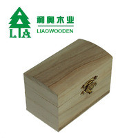 handcraft Wooden Gift Box with hinged lids Paulownia small wood boxes wholesale