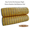 Luxury hanadmade summer power saving bamboo cooling mat
