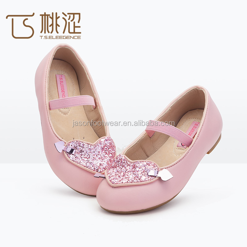 Smell resistance eco-friendly transfer film leather girls princess shoes/cute party used mary jane dolly shoes for kids