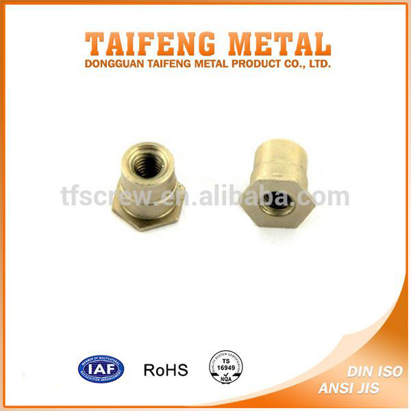 carbon steel hex flat head metal push rivet