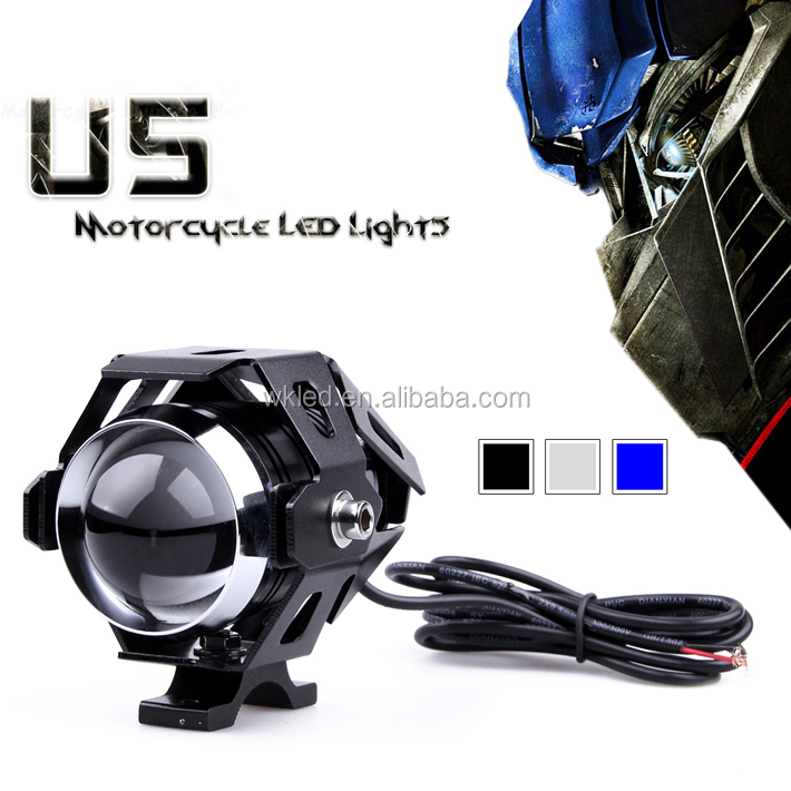 Motorcycle headlight lens motorcycle led headlamps u5 auxiliary lamp super bright Motorbike spotlights head lights car fog DRL
