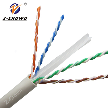 Bulk Order 23awg 4 Pr Utp Cat6 Cable With Ul Cmp Bare Copper Cat 6 ...