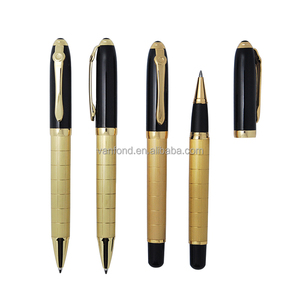 High Quality Promotional Metal Gold Plated Copper Pen Set