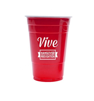 450ml Single Wall Insulated Acrylic Red Solo Cup With Lid