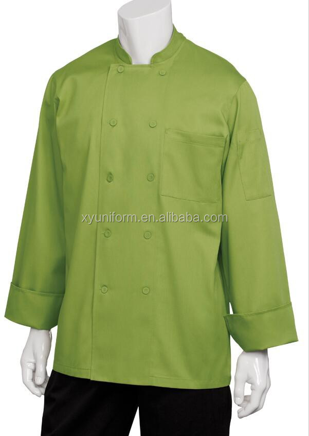Logo custom keuken chef uniform, chef jas uniform, executive chef jacket