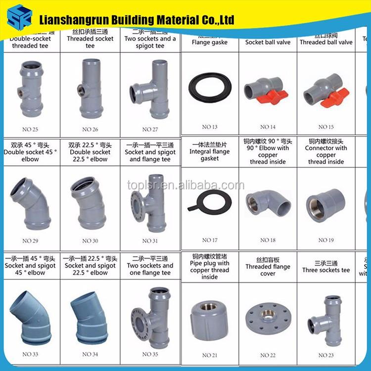 Price list plumbing materials pvc parts names buy