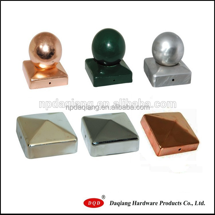 71x71mm square shape galvanized steel fence post caps for garden use