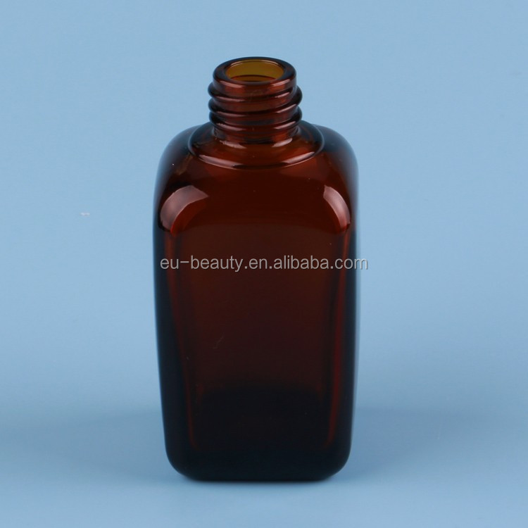 Sweet aroma essential oil bottle rectangle amber essential oil bottle