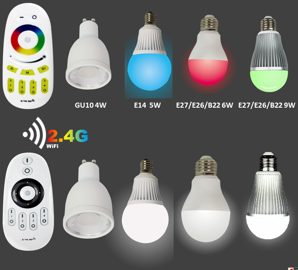 Mi Light Best Selling Wireless Gu10 Rgb Led Light Bulb Wifi 2.4g ...