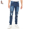 High quality new fashion china supplier distressed moto jeans wholesale custom men ripped skinny jeans