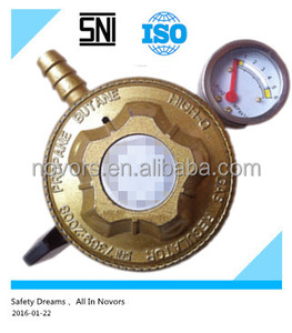 lpg regulator with gas meter for Indonesia/India