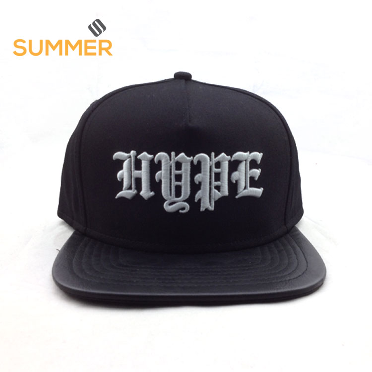 Snap Back Shop Custom Hot Sale UK Cheap And Cool Men Black Plain Snap Back Hats And Caps