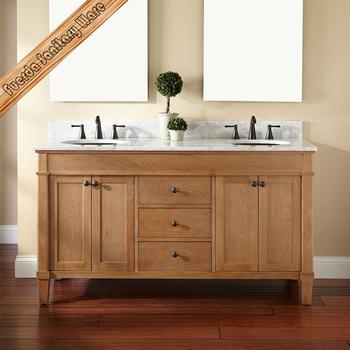Fed 1275 Double Sink Carrara White Marble Top Modern Solid Wood Bathroom Vanity Buy Bathroom Basin Washing Room Basin Wood Cabinet Bathroom Cabinet