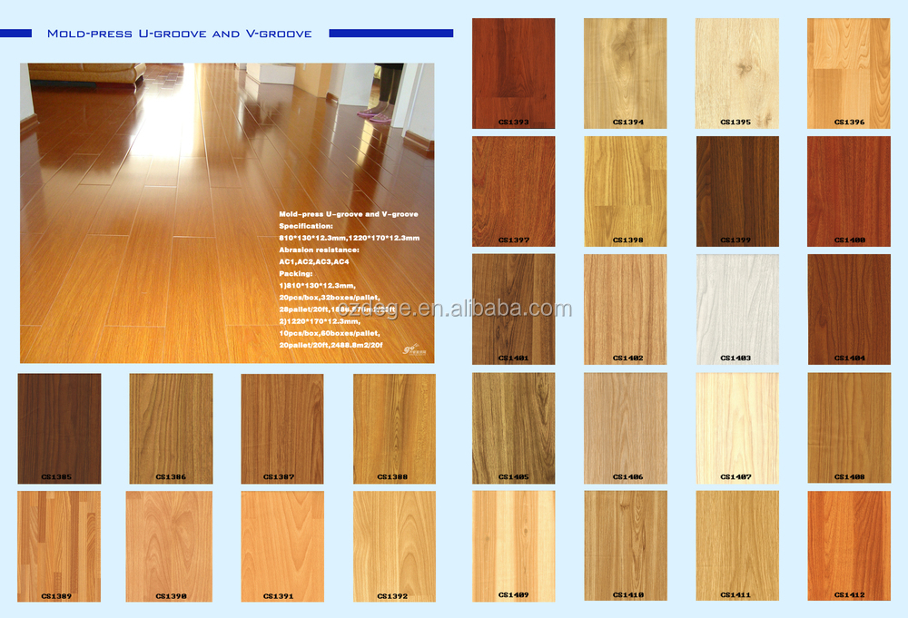 Hdf Mdf Unilin Click Wax Waterproof Parquet 14mm Laminate