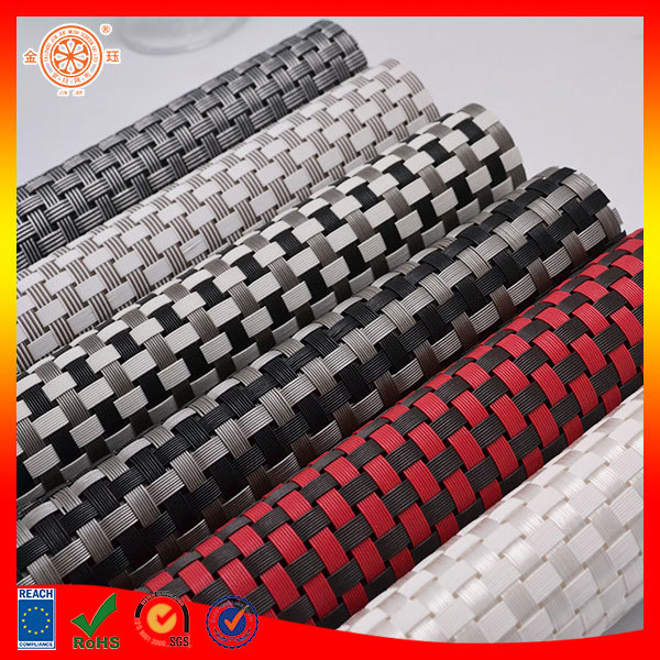 Vinyl Mesh Fabric Table Cloths Table Placemats Pp Woven Oval Placemats