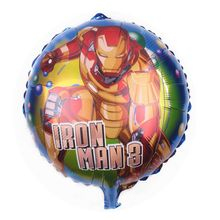 New Strong Decoration Cartoon aluminum foil helium Iron hero Birthday Balloon for kids party toys brinquedos para festa