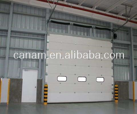 Automatic Vertifical Lifting Sectional Industrial Doors With Small Windows