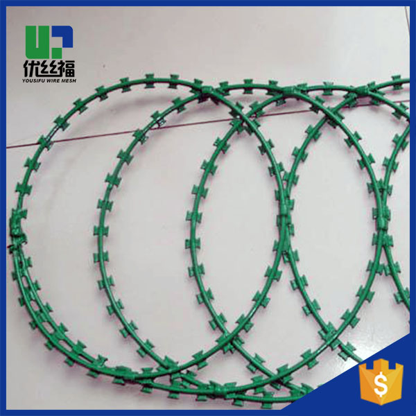 razor barbed wire for fencing with iso9001 system