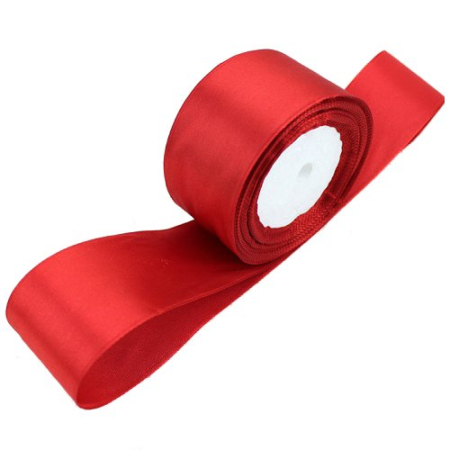 TOOGOO(R) 1 roll (25 yards/roll) 2'' (50mm) single face Satin Ribbon Webbing Decoration Gift Christmas Ribbons(red)