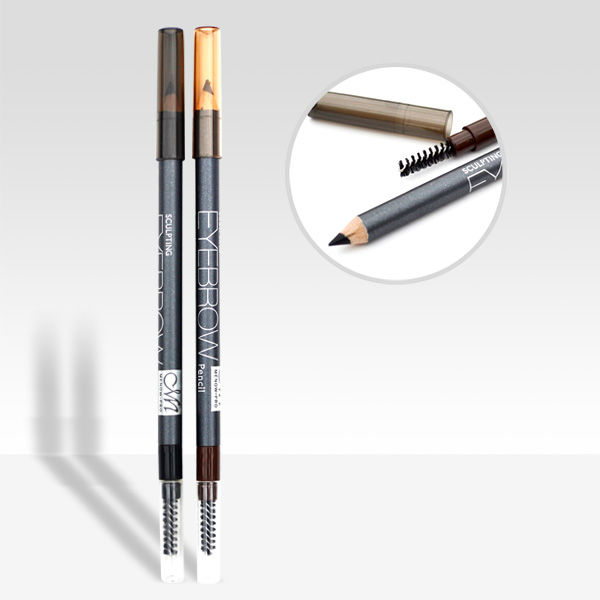 Menow P13009 wooden eyebrow pencil with brush