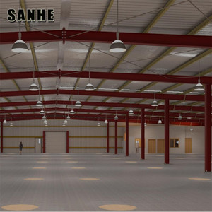 Sanhe pre-engineered H beam portal frame industrial workshop steel structure warehouse building
