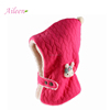 Fashion warm custom winter baby new born button hat