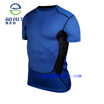 99c7e3346f4c 2018 Men Sport T-shirt Fitness Quick Dry Stretch Top 100% Polyester ...
