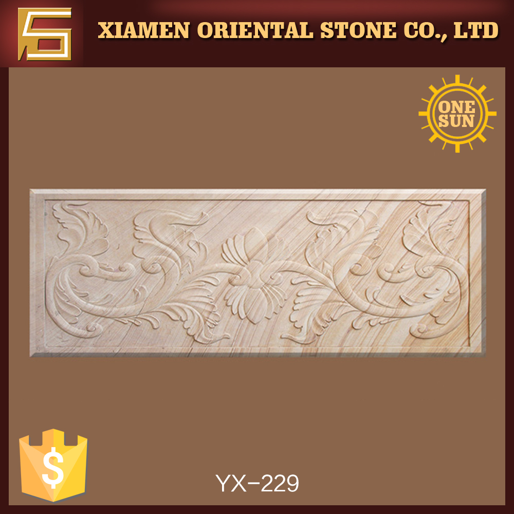 Beige Relief Stein Wandtafel Für Innen Oder Außen Dekorative
