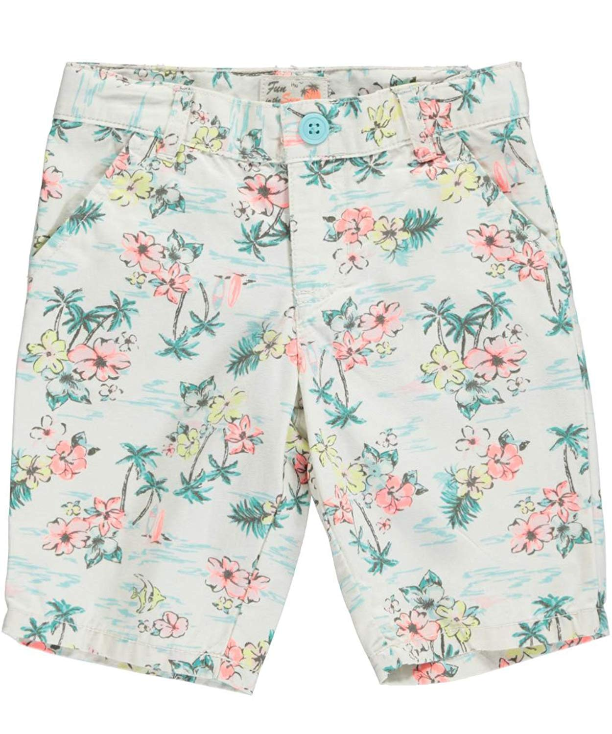 FullBo Tropical Leaves Green Watercolor Palm Leaf Little Boys Short Swim Trunks Quick Dry Beach Shorts