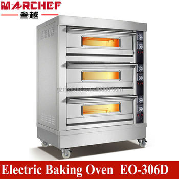 Restaurant Kitchen Oven eo-306d 3 deck 6 trays commercial restaurant kitchen electric