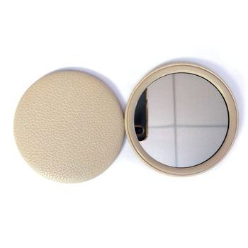Advertising custom design mini round tin mirror pocket hand makeup mirror with logo printing