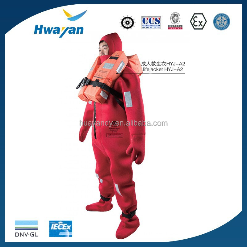 marine insulated CCSMEDSOLAS neoprene HUAYAN 150N immersion suit