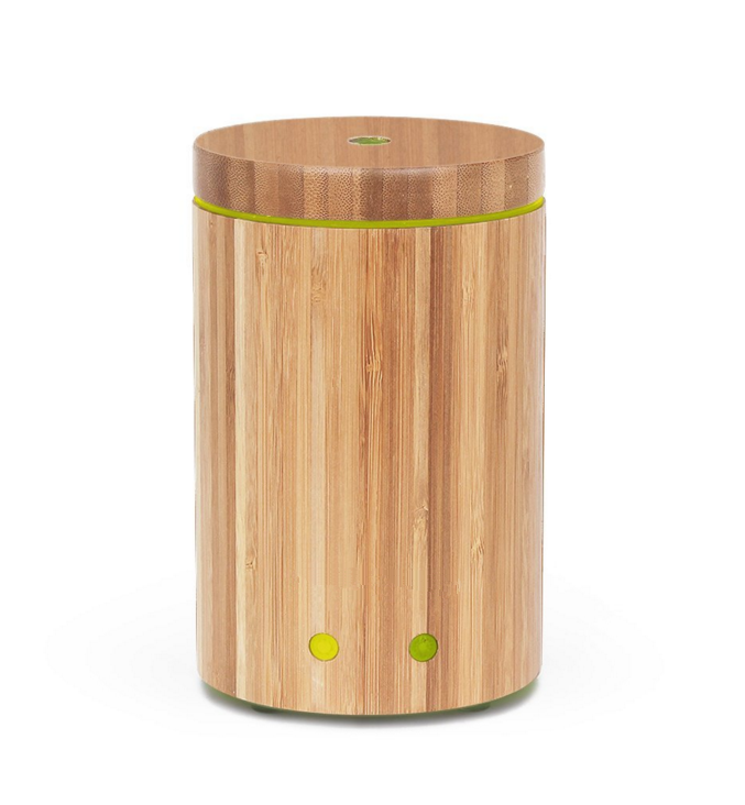 Real Bamboo Essential Oil Diffuser Ultrasonic Aromatherapy Diffusers with 7 LED Colorful Lights and Waterless Auto Shut-off