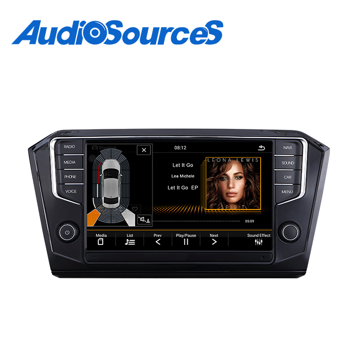 1024x600 android auto Car gps radio navigation for volkswagen b8 built in Canbus ,external DVD player ,support swc, phone link