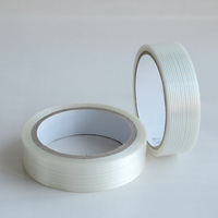 high strength one way fiberglass packaging tape mono-directional filament tape clean removal