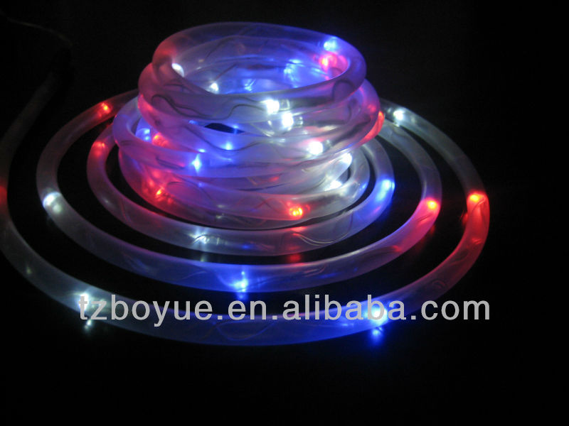 Redwhiteblue color solar power led rope lightled solar rope redwhiteblue color solar power led rope lightled solar rope christmas lightoutdoor used rope light buy waterproof solar led rope lightsolar rope mozeypictures Images