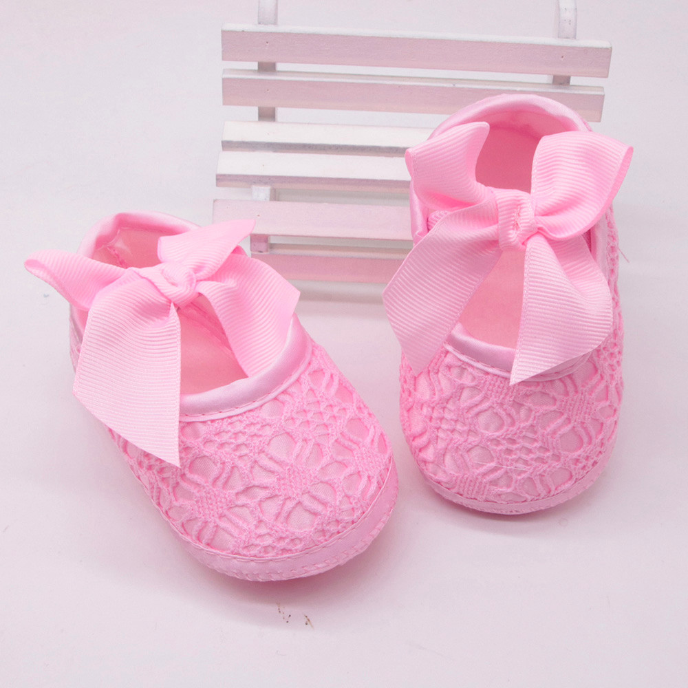 0-6 Months, Gold Kolylong Baby Toddler Newborn Girls Cute Shoes Soft Sole Wave Bowknot Shoes First Walk Shoes