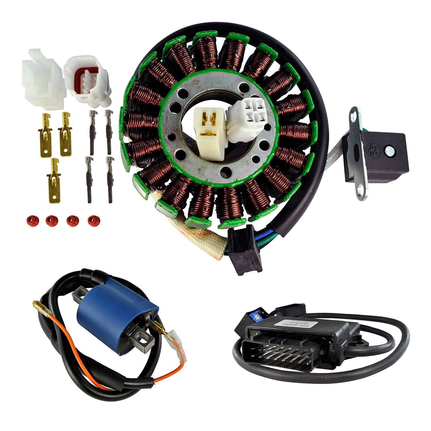 Kit HO Stator + HP CDI Box + External Ignition Coil For Suzuki LTZ 400 Quadsport 2003-2004