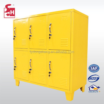 Six Door Yellow Colour Cheap Steel Kids Locker Mini Storage Locker   Buy  Six Door Cheap Steel Kids Locker,Yellow Colour Kids Locker,Mini Storage ...