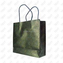 paper bag handle/ paper bag with hot stamping/ full color printing tote bag