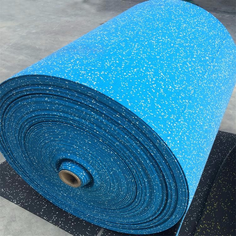 Black Crossfit Rubber Granules Roll Flooring For Gym Buy