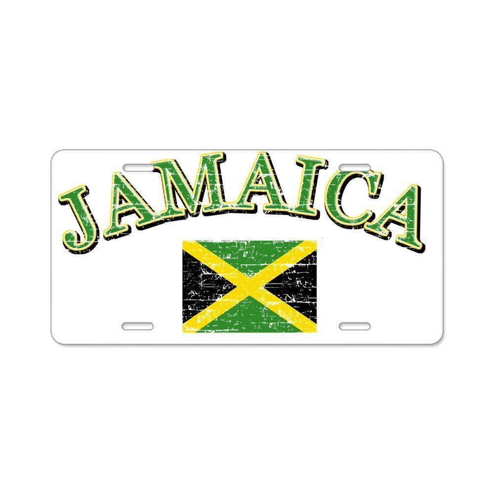 Front License Plate Aluminum License Plate Vanity Tag CafePress Jamaica