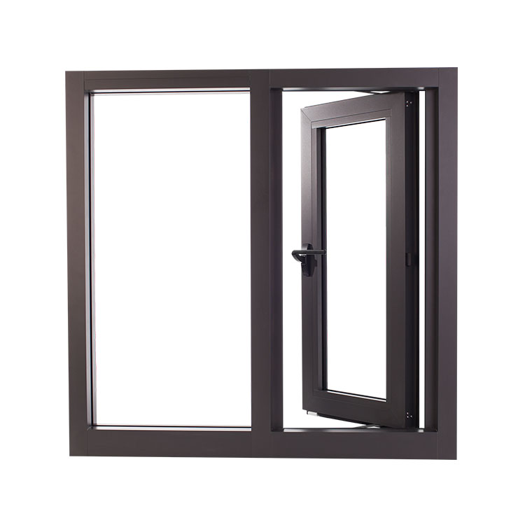 Australian Standard Popular Design Dual Colored Two Panels Aluminium Alloy Casement Window