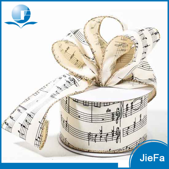 All Themes Customized Musical Note Printed Cheap Music Ribbon