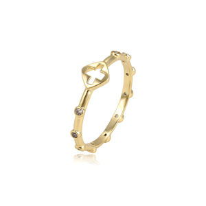 15008 xuping Cross 1 gram latest 14k gold finger jewelry ring designs